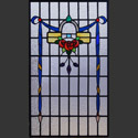Antique Three Rose Stained Glass