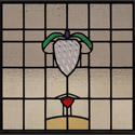 Antique Stained Glass Clear Crest
