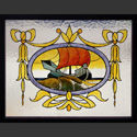 Painted Stained Glass Ship