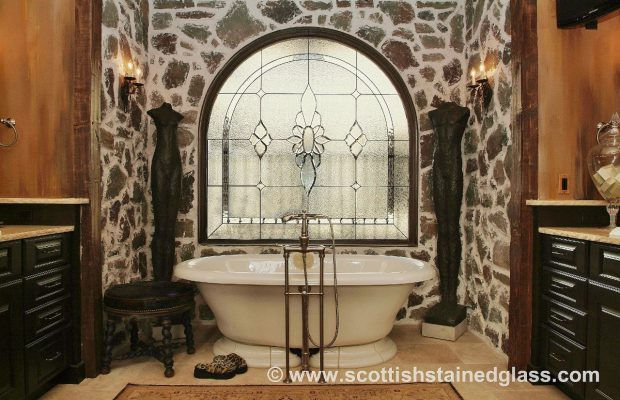 bathroom stained glass window beautiful